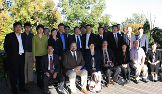Visitors from Chinese Academy of Sciences pose with Earth Institute hosts