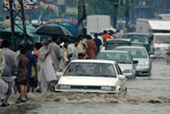 flooding in Lahore, Pakistan
