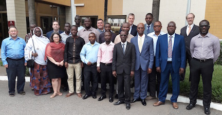 Participants in Geospatial Data Training Workshop in Accra, Ghana