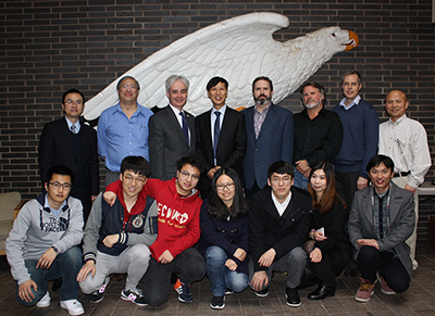 Delegation from East China Normal University in Shanghai, with John Konarski of the American Geographical Society and CIESIN and Lamont staff