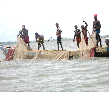 Men fishing in Sierra Leone