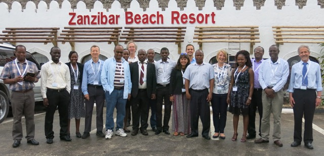 Participants in SCIPEA seasonal climate forecasting workshop, Zanzibar, Tanzania, August 16-19.