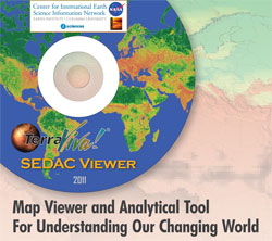 DVD Label for Terra Viva SEDAC map viewer